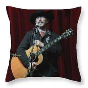 Musician Kinky Friedman Throw Pillow