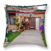 Musician Village Throw Pillow