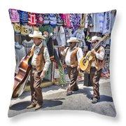 Musicians La Bufadora Throw Pillow