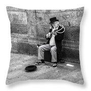 Musicman Throw Pillow