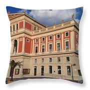 Musikverein Gesellschaft Der Musikfreunde Building Vienna Austria Throw Pillow
