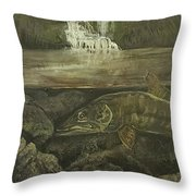 Muskellunge Throw Pillow