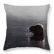 Muskrat Throw Pillow
