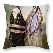 Muslim Women, C1895 Throw Pillow