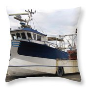 Mussel Boat Throw Pillow