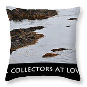 Mussel Collectors At Low Tide - Shellfish - Low Tide Throw Pillow