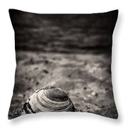 Mussel On The Beach Throw Pillow