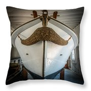 Mustache Boat Throw Pillow