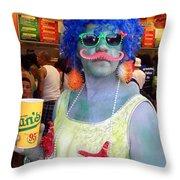 Mustache Merman Throw Pillow
