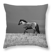 Mustang 2 Bw Throw Pillow