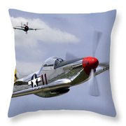 Mustang And Thunderbolt Throw Pillow