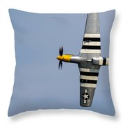Mustang Flyby D-day Throw Pillow