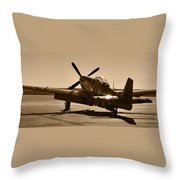 Mustang In The Sun Throw Pillow