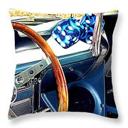 Mustang Interior Throw Pillow