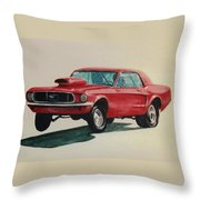 Mustang Launch Throw Pillow