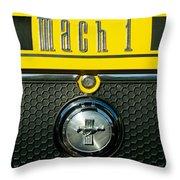 Mustang Mach 1 Emblem 2 Throw Pillow