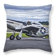 Mustang P51 Throw Pillow