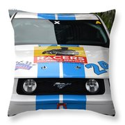 Mustang Race Car Throw Pillow