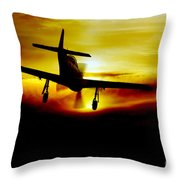 Mustang Recovery Throw Pillow