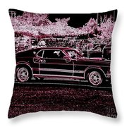 Mustang Rose Throw Pillow