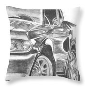 Mustang Throw Pillow by Whitney Nanamkin