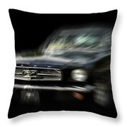 Mustang Zoom Zoom Throw Pillow