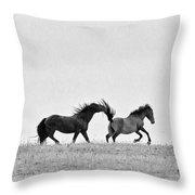 Mustangs Sparring 2 Throw Pillow