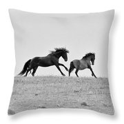 Mustangs Sparring 3 Throw Pillow