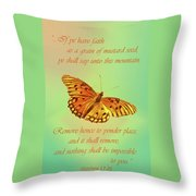 Mustard Seed Faith Throw Pillow