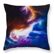 Mutara Nebula Throw Pillow by James Christopher Hill