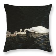 Mute Swan Cygnus Olor Parent Throw Pillow