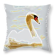 Mute Swan - Different Throw Pillow