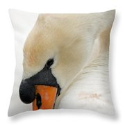 Mute Swan Fine Art Photograph Throw Pillow