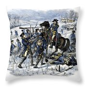 Mutiny: Anthony Wayne 1781 Throw Pillow by Granger