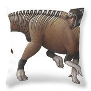 Muttaburrasaurus Dinosaur Throw Pillow