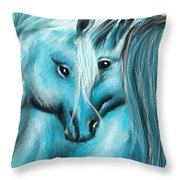 Mutual Companions- Fine Art Horse Artwork Throw Pillow