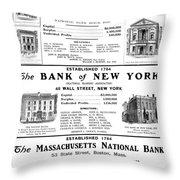 Mutual Funds, 1901 Throw Pillow