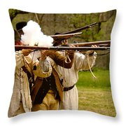 Muzzle Fire Throw Pillow by Mark Miller