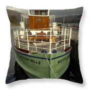 M.v The Western Belle Throw Pillow