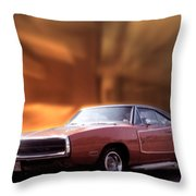 My 70 Charger 440 Six Pack Throw Pillow