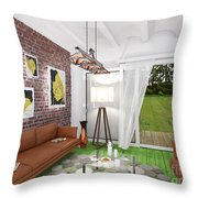 My Art In The Interior Decoration -leaf- Elena Yakubovich Throw Pillow