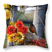 My Beautiful Nest Throw Pillow