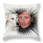 My Best Buddy Throw Pillow