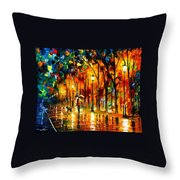 My Best Friend - Palette Knife Oil Painting On Canvas By Leonid Afremov Throw Pillow