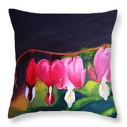My Bleeding Hearts Throw Pillow