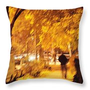 My Blurred World Throw Pillow