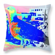 my bonnie lies over the ocean but I am here  Throw Pillow by Hilde Widerberg