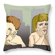 My Brother And Me Throw Pillow