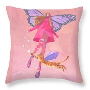 My Colored Dreams Throw Pillow