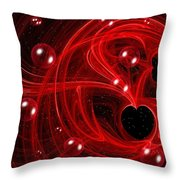 My Cosmic Valentine Throw Pillow by Peggy Hughes